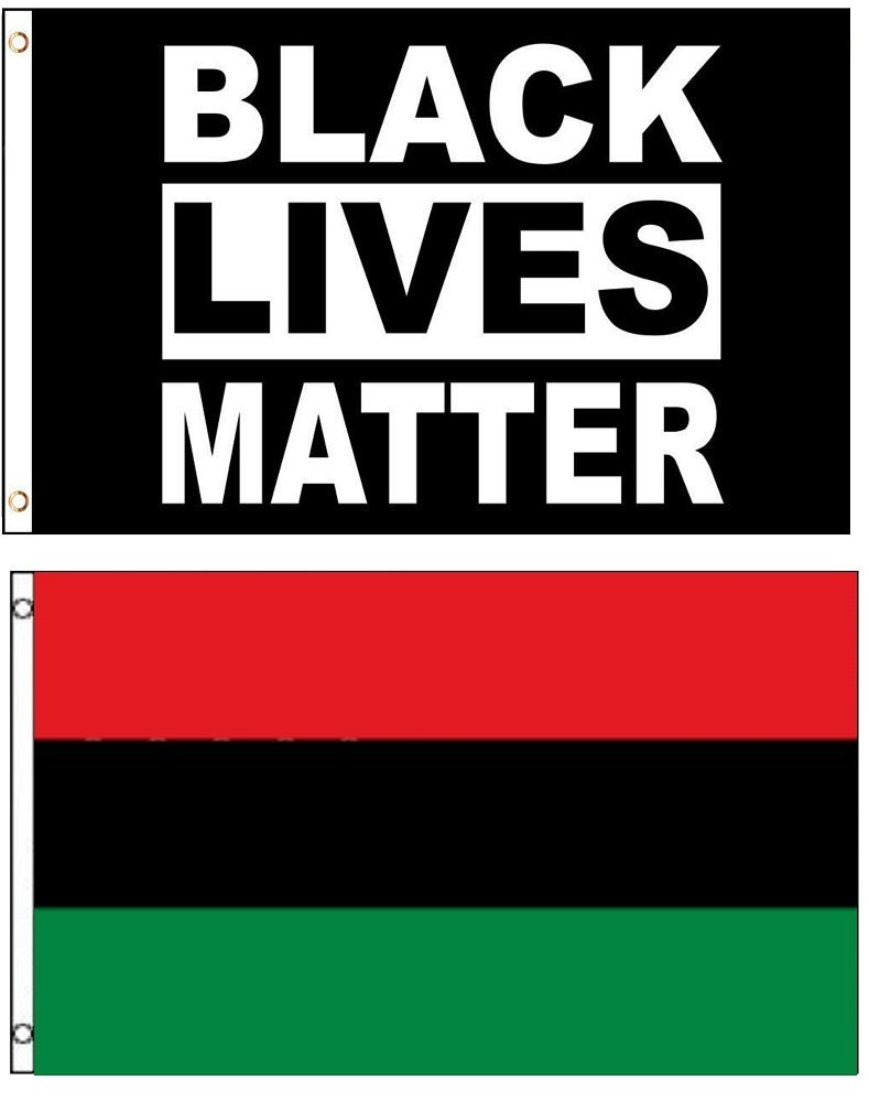 3x5 3'x5' Wholesale Combo African Africa & Black Lives Matter 2 Flags Flag Banner Brass Grommets House Banner Brass Grommets Fade Resistant Double Stitched Premium Quality