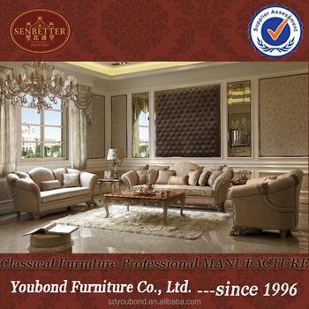 0066 Neueste Barock Vintage Design Wohnzimmer Sofa Dubai Lifestyle