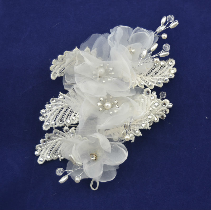 Sequin Beaded Comb with Pearls Style for bride