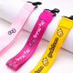 Factory custom logo carabiner wrist lanyard keychain for promotional