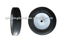 4.00-8 Solid rubber dolly wheels with steel rim