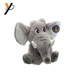 Top sales OEM animal flappy grey sitting stuffed elephant plush toy