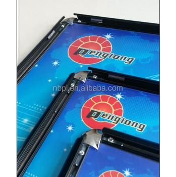 8.5x11,11x17 Tamaño Snap Cartel 25mm Esquina Redonda Negro Marco De ...