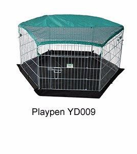 folding outdoor rabbit run with sunshade