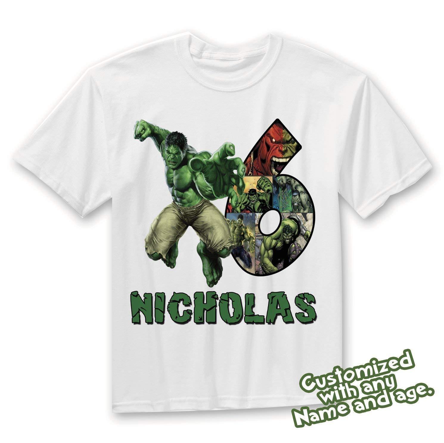 Get Quotations Hulk Family Birthday Shirt HULK Custom Personalized Shirts