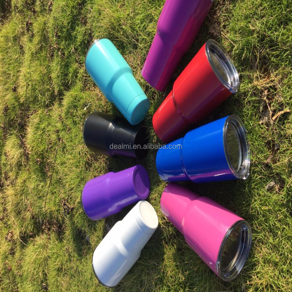 DEMIZXX036 Wholesale Colorful Hot Selling Fashion New Design and Pop Monogram Powder Coated 304 Stainless Steel 30 OZ Tumblers