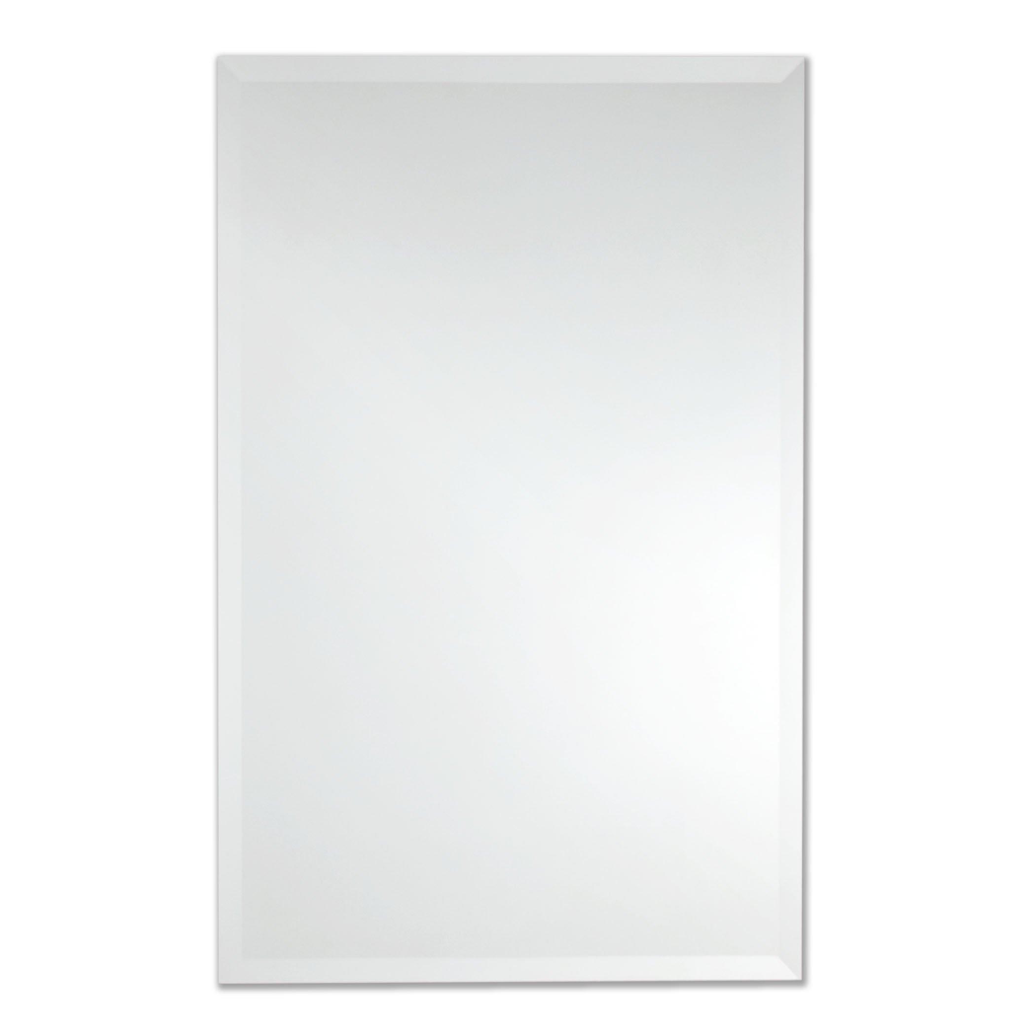 Frameless Rectangle Wall Mirror   Bathroom, Vanity, Bedroom Rectangular Mirror   30-inch x 40-inch (Large)