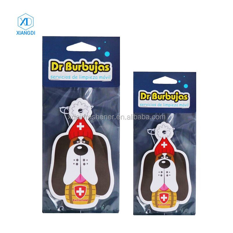Customized Design lubricating oil logo car air freshener paper hanging car perfume,ambientador en forma de pino
