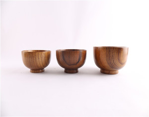 Stocked products natural indian teak wood price bowl