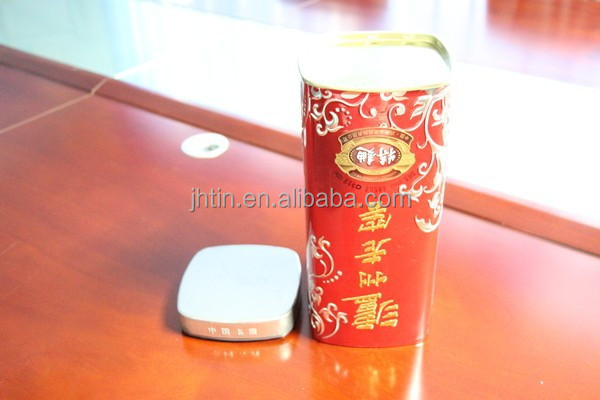 China manufacturer wholesale tin metal cans alcohol gift box for wine canister