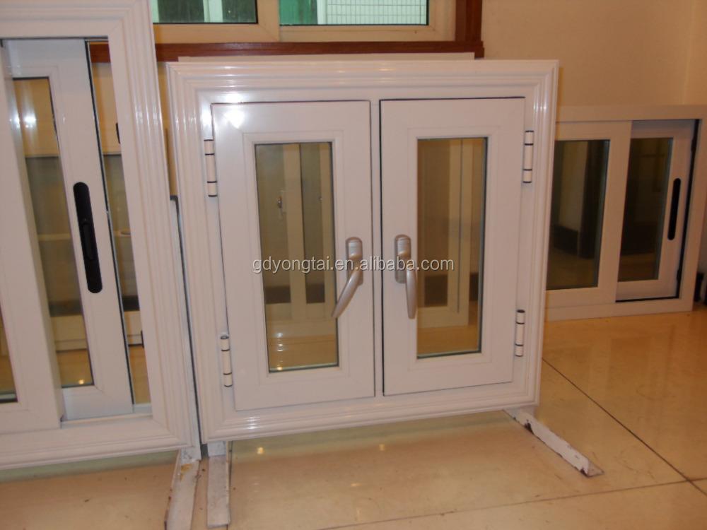 nuevo estilo de ventana de aluminio ventana de casa columpio doble ventana practicable para