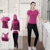 Gymnastic Four-Piece Training Wicking Hiking Fitness Women Sets