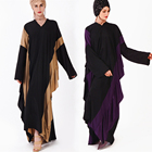 2019 sleeves Butterfly pattern long sleeve maxi dress wholesale dubai design kaftan pakistan abaya
