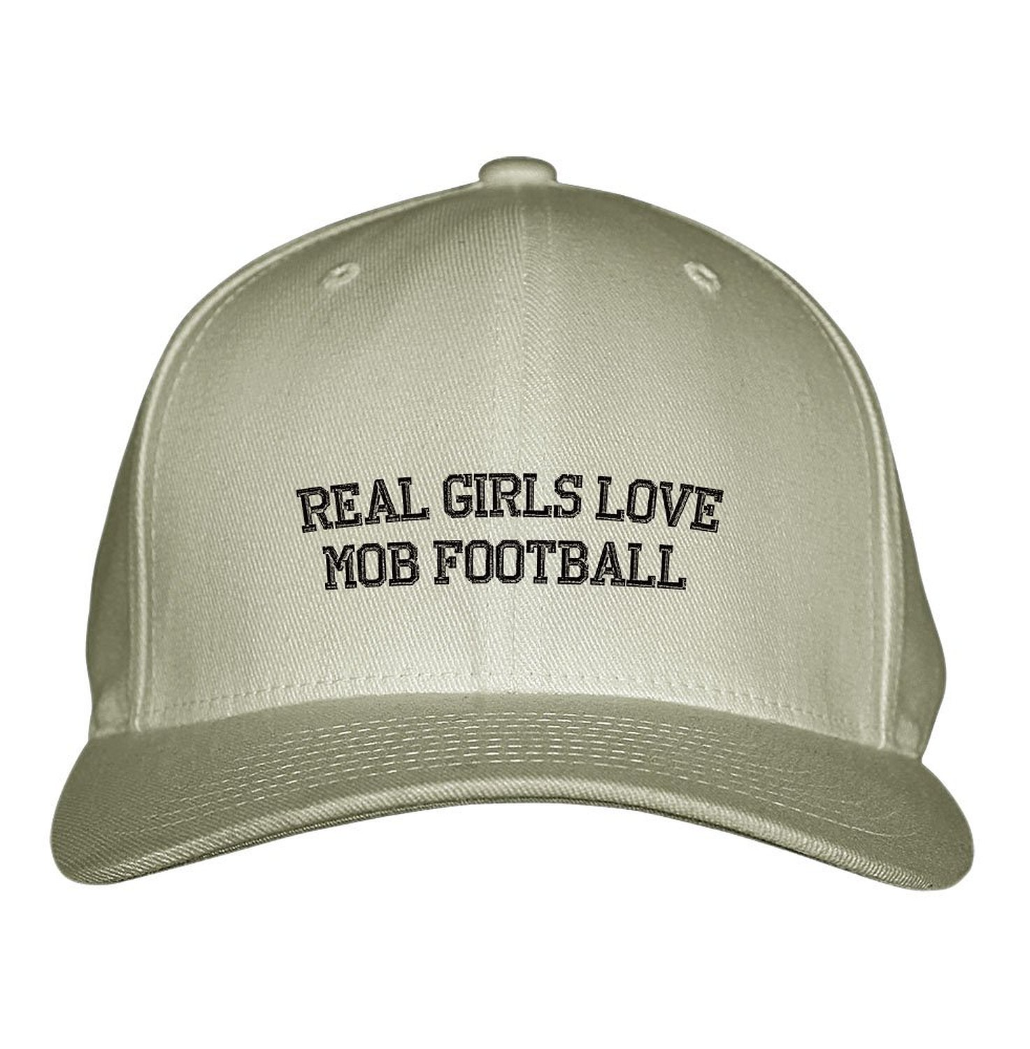 83643de4f9b Get Quotations · Real Girls Love Mob Football Sport Embroidered Adjustable  Structured Hat Cap