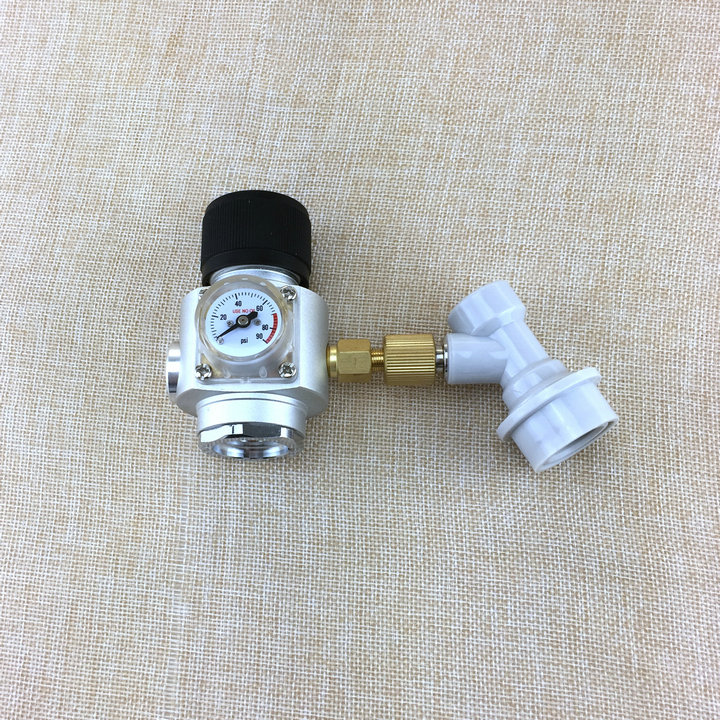 "Mini CO2 Gas Regulator with ball lock disconnect for co2 regulator,homebrew 3/8"" thread GAS regulator"