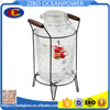 8L beverage glass water dispenser with iron basket