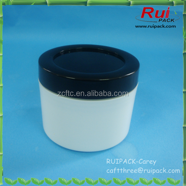 100g PP white cosmetic cream jar with black cap/cosmetic packaging cream jar 100g