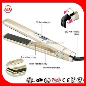 Sensor touch control Ceramic Electric hair flat iron,beautiful star hair straightener intertek flat iron