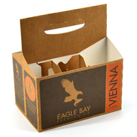 custom corrugated paper packaging drinking box 6 six pack beer bottle carrier