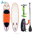 "Fissot wholesale 6"" thick inflatable sup paddle board with paddle, pump, fins"