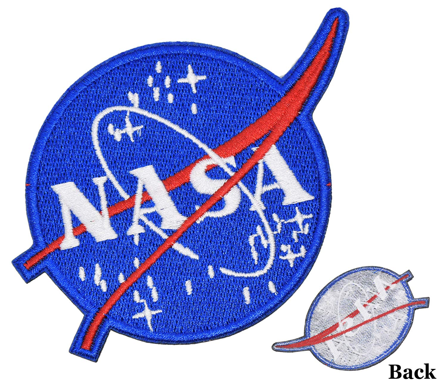 4238475eb50f3 Get Quotations · NASA Space Program Vector Patch Custom Jacket Backpack Hat  Shirt DIY Halloween Costume Embroidered Iron On