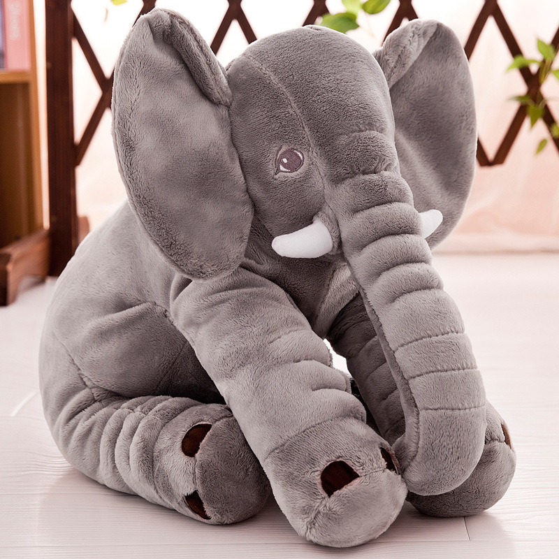 Factory wholesale supply cheap baby plush toy elephant pillow in stock