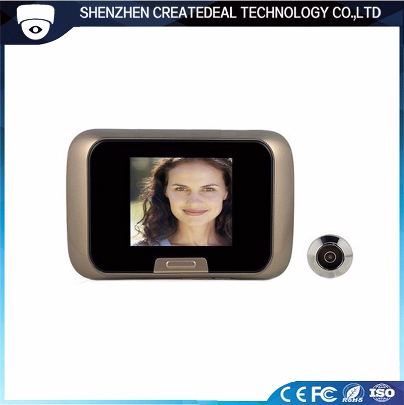 2.8 Inch Digital Door Peephole Viewer Camera Visual Doorbell Candid Videos for Home Security