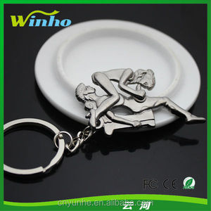 5571cee560c Sexy Funny Moveable Metal Toys Keyrings