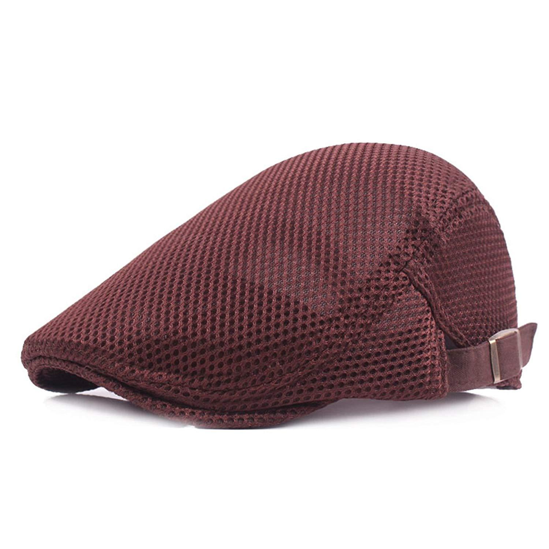 36398123117 Get Quotations · ZLSLZ Men s Unisex Breathable Mesh newsboy IVY Cabbie  Gatsby Golf Cap Hat For Men