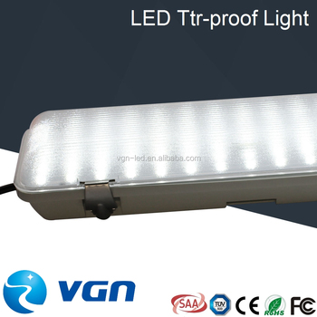 6 Ft Industrial Led Tube Fluorescent Ceiling Light Fixture Plastic ...