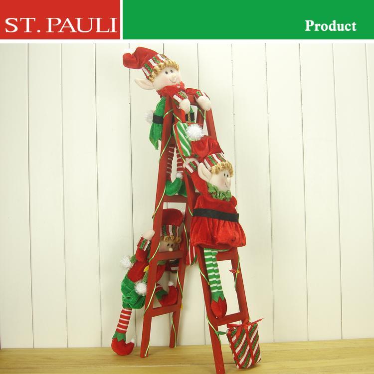 elves climbing ladder christmas decoration home decorating ideas