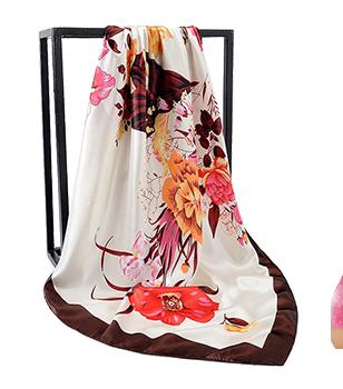 Vente chaude Plaine Taiwan En Nylon Polyester Femme Écharpe Magique À La Mode