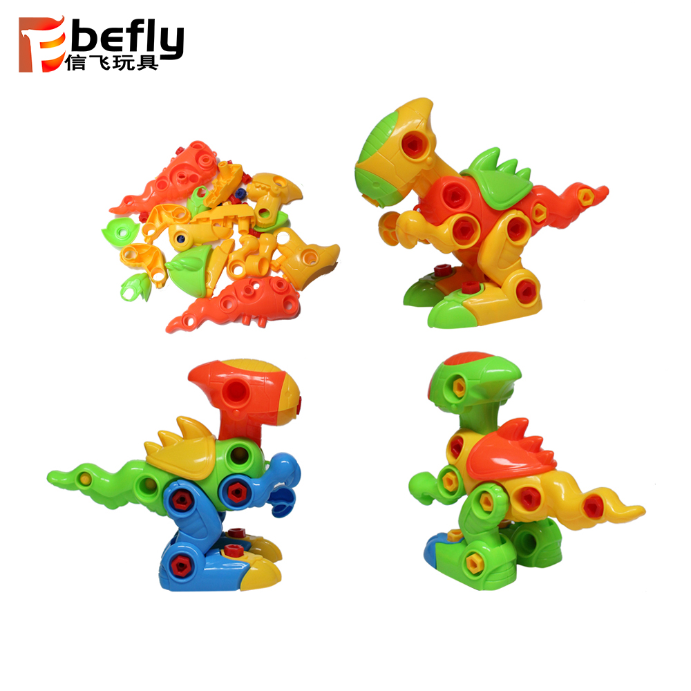 2019 wholesale diy dinosaur model take a part funny toys & kids gifts