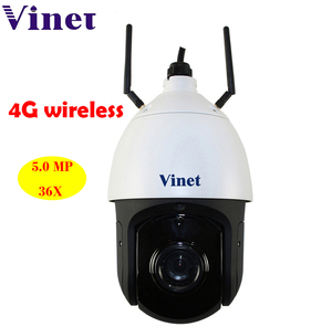 Outdoor onvif P2P sim card TF card 5.0MP 3g 4g 36X zoom ptz wireless ip 360 camera outdoor