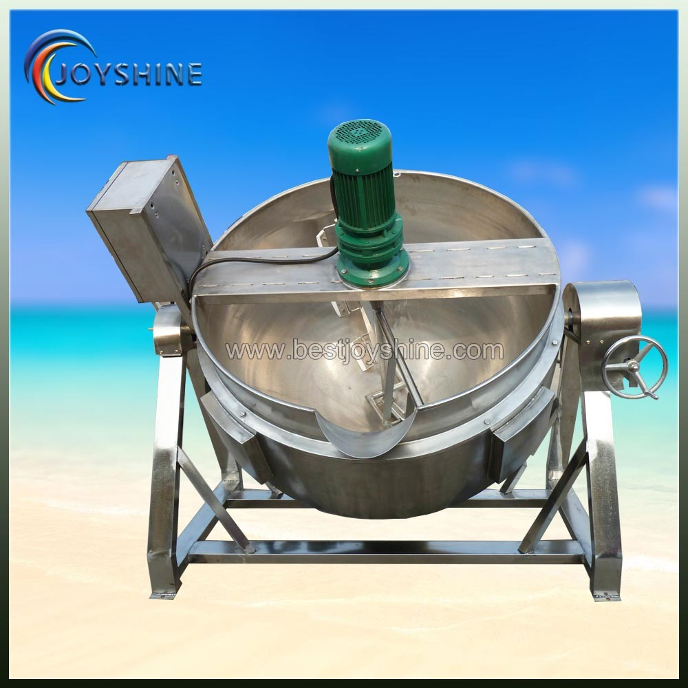 High efficient factory low price Gas heating cooking kettle with mixer