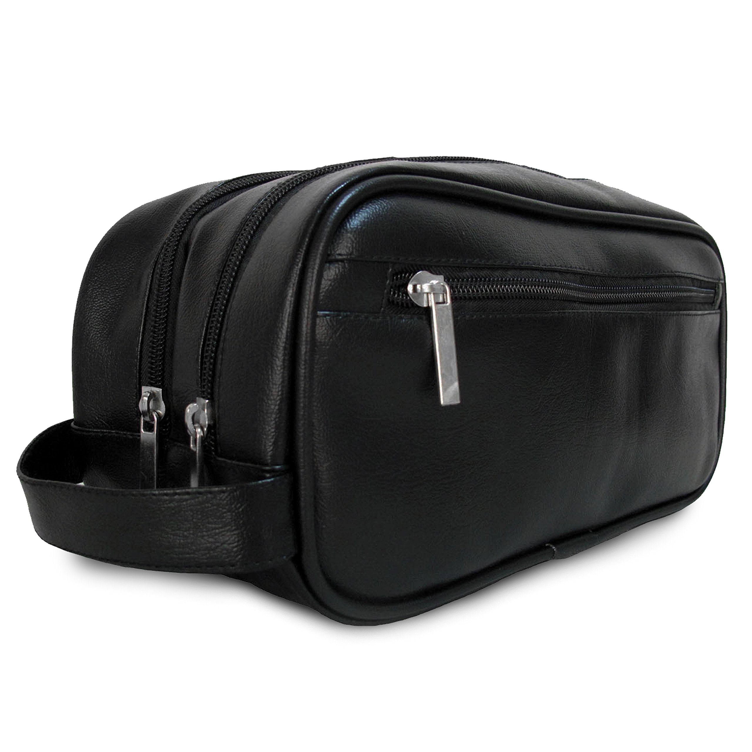 87c2208ded4f Mister Bag Leather Travel Toiletry Bag for Men or Women Waterproof. Travel  Size Toiletries Bag