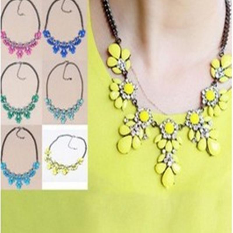 SALE 2014 New Pop 11 Colors Good Quality Fashion Western Statement Elegant Rinestones Choker Necklace jewelry