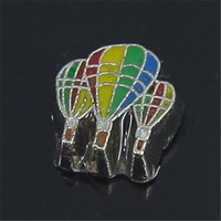 Latest Design Hot Air Balloon Floating Charms For Glass Lockets
