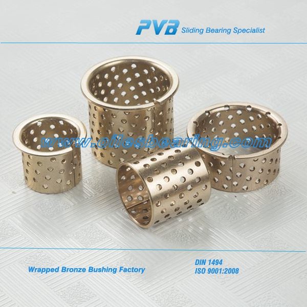 WB700 bronze bearing, OEM CuSn6 Wrapped Bush , maintenance free automobile flange bronze bushing