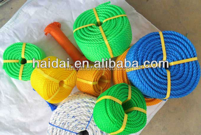 High quality 3 strand 4 strand hard twist polypropylene rope for sale