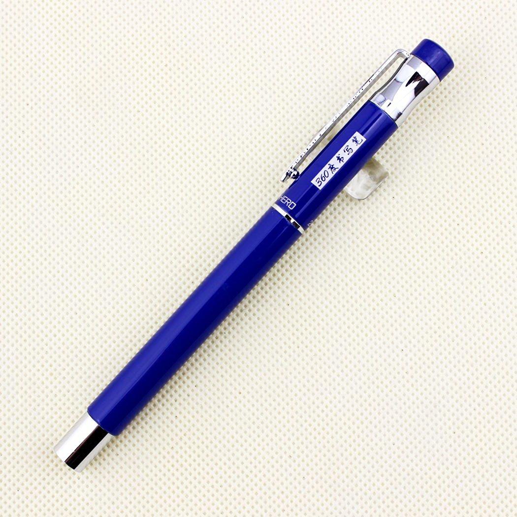Advanced Hero Fountain Pen 257 Blue and Silver Clip Pen Nice Nid Pen