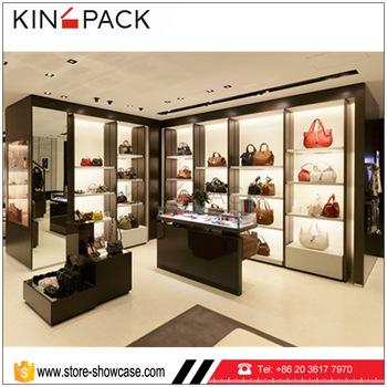 Top Quality Handbag Shop Counter Table Bag Display Rack Cabinet
