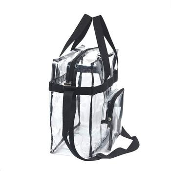 2019 China suppliers promotional OEM clear pvc beach travel tote bags