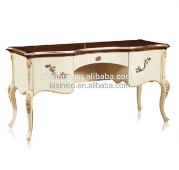 Queen Anne Wooden Dressing Table, Vitoria Style Hand Painted Dresser ...