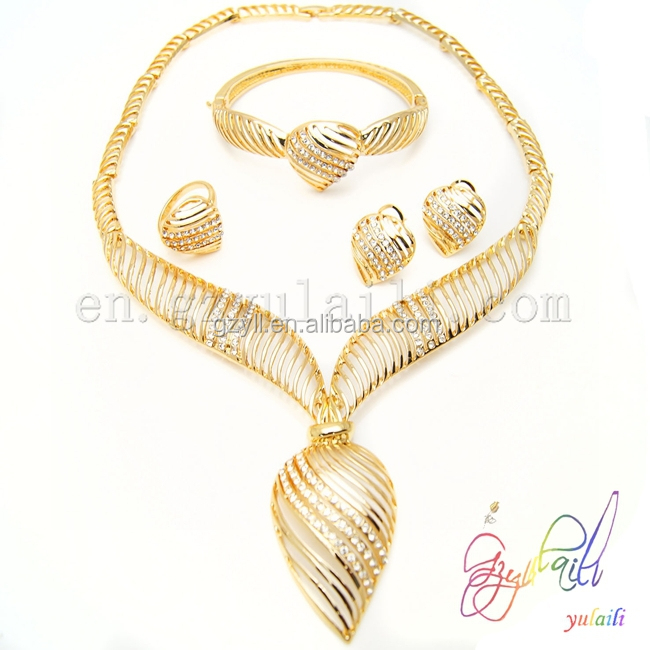 Jewelry Fashion 2015 New Design Gold Plated Bridal Jewelry Set Buy