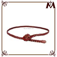 Factory direct sell bohemian style red handmade rose woven belt for women dress