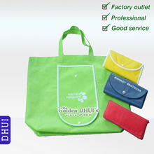 Custom logo printing carry easily foldable nonwoven promotional advertisement tote bag