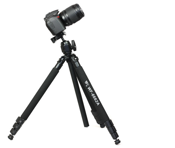 Weifeng WT-6663A Portable Carbon Fiber Tripod for DSLR camera camcorder