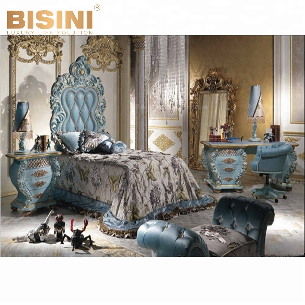 Bisini Luxury Royal Prince Blue Kids Bed For Boy,European Children Bedroom  Furniture Sets -bf07-70221 - Buy Kids Antique Vanity Dresser With ...