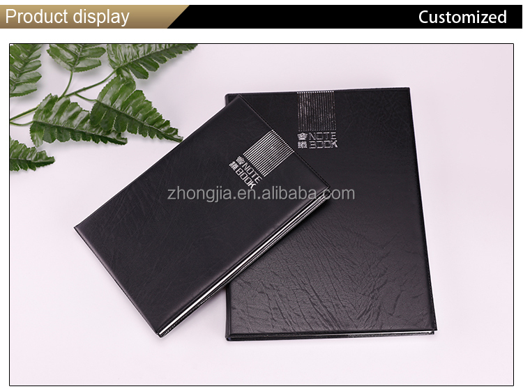 Black simple style week plan agenda planner for meeting record conference usage note book
